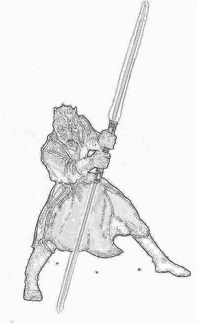 Star wars coloring pages darth maul for Count dooku coloring pages